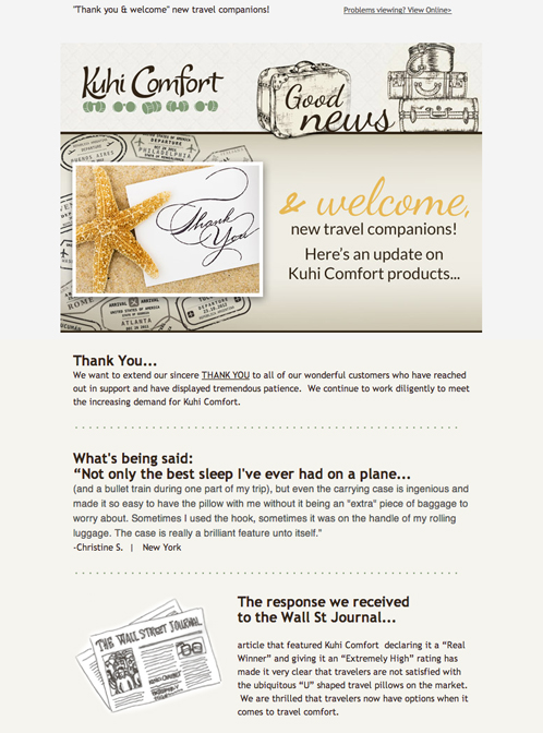 Kuhi Comfort Email Mktg