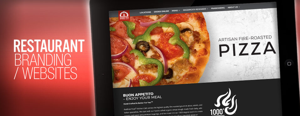 restaurant branding website